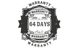 64 days warranty illustration design stamp badge icon. 64 days warranty illustration design stamp badge illustration icon royalty free illustration
