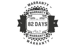 82 days warranty illustration design stamp badge icon. 82 days warranty illustration design stamp badge illustration icon royalty free illustration