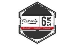 6 days warranty illustration design stamp badge icon. 6 days warranty illustration design stamp badge illustration icon vector illustration