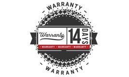 14 days warranty illustration design stamp badge icon. 14 days warranty illustration design stamp badge illustration icon vector illustration