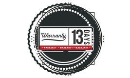 13 days warranty illustration design stamp badge icon. 13 days warranty illustration design stamp badge illustration icon royalty free illustration