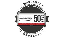 50 days warranty illustration design stamp badge icon. 50 days warranty illustration design stamp badge illustration icon royalty free illustration