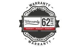 62 days warranty illustration design stamp badge icon. 62 days warranty illustration design stamp badge illustration icon stock illustration