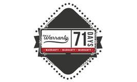 71 days warranty illustration design stamp badge icon. 71 days warranty illustration design stamp badge illustration icon vector illustration