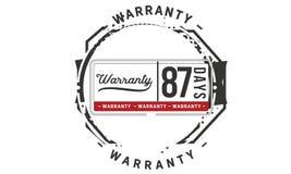 87 days warranty illustration design stamp badge icon. 87 days warranty illustration design stamp badge illustration icon vector illustration