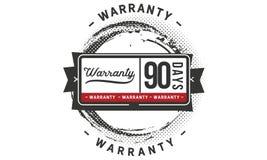 90 days warranty illustration design stamp badge icon. 90 days warranty illustration design stamp badge illustration icon vector illustration