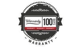 100 days warranty illustration design stamp badge icon. 100 days warranty illustration design stamp badge illustration icon vector illustration