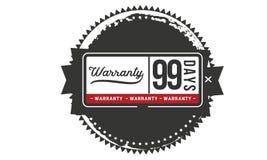99 days warranty illustration design stamp badge icon. 99 days warranty illustration design stamp badge illustration icon royalty free illustration