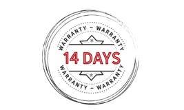 14 days warranty illustration design stamp. Badge icon quote illustration vector illustration