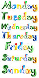 The days of the week Stock Photos