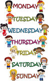 Days of the week Royalty Free Stock Photo