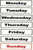 Days of the week Royalty Free Stock Images