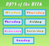 Days of the week. An illustrator object Stock Images