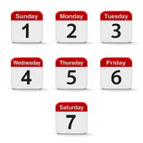 Days of the week Stock Photography