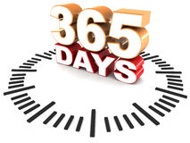 365 days. Or year round concept of work, or something in effect Royalty Free Stock Photo