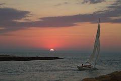 Sunset Sail Royalty Free Stock Photos