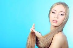 Dayspa. Portrait of a beautiful  professional model. Theme: healthcare, beauty, fashion Stock Image