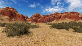 Daytime canyon landscape Stock Photography