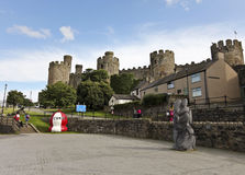 A Daytime Conwy and Conwy Castle Shot Stock Images
