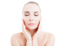 Daytime creme and face skin care concept Stock Photography