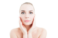 Daytime creme for perfect skin concept Royalty Free Stock Images