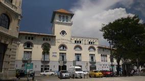 Daytime Exterior Establishing Shot of Terminal Sierra Maestra in Havana Cuba. 8810 A daytime exterior establishing shot of the Terminal Sierra Maestra San stock footage
