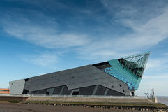 Daytime exterior photo of The Deep. The Deep is a large aquarium and visitor attraction in Hull, England Stock Images