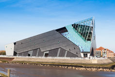 Daytime exterior photo of The Deep. The Deep is a large aquarium and visitor attraction in Hull, England Royalty Free Stock Images