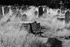 Daytime Graveyard Stock Photo