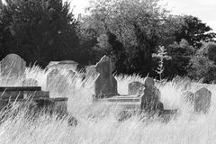 Daytime Graveyard Royalty Free Stock Images