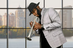 Daytime jazz performance in studio. Royalty Free Stock Images