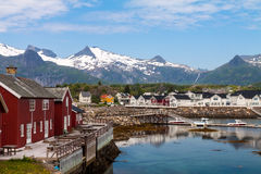 Daytime in Kabelvag, Lofoten Islands, Norway Royalty Free Stock Images