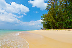 Daytime landscape with a beautiful beach and tropical sea. Thailand, Phuket Royalty Free Stock Photography