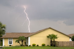 Daytime lightning strike Royalty Free Stock Photography