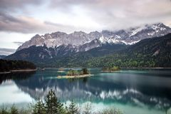 Daytime Mountain Alps by Water Photo Royalty Free Stock Photography