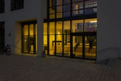 Day and night series of office facades Royalty Free Stock Images