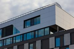 Day and night series of office facades Stock Photography
