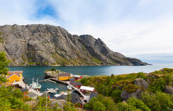 Daytime in Nusfjord, Lofoten Islands, Norway Stock Photography
