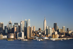 Daytime NY Skyline. A 2010 daytime view of the New York skyline as seen from across the Hudson River in New Jersey Royalty Free Stock Image