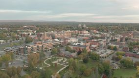 Daytime over Saratoga Springs New York a hub for horse racing