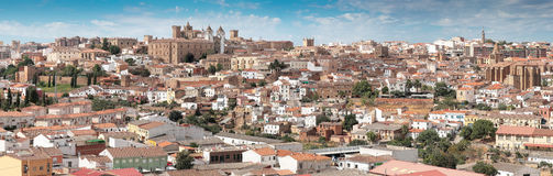 Daytime panorama of Caceres Royalty Free Stock Photos