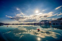 A daytime shot of the harbour of zakynthos. Beautiful royalty-free stock photography. a daytime shot of the harbour of zakynthos Stock Photography