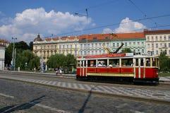 Daytime street in Prague Royalty Free Stock Photo