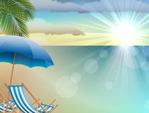 Daytime summer background on beach Royalty Free Stock Photo
