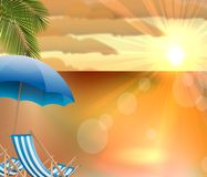 Daytime summer background on beach Royalty Free Stock Photos