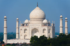 Daytime Taj Mahal at Distance Stock Photo