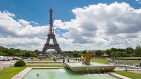 Daytime timelapse of Eiffel Tower, Paris stock footage