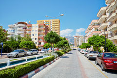 Daytime traffic at Mehmet Cakir Street Stock Photos