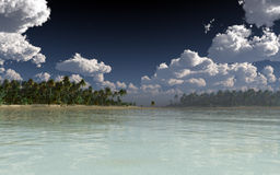 Daytime Tropic Island Royalty Free Stock Images
