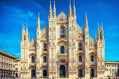 Daytime view of famous Milan Cathedral Duomo Stock Photo